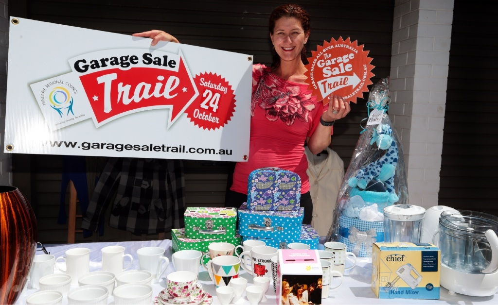 Michelle Haughton is gearing up for the Garage Sale Trail on October 24.  Picture: Martin Kennealey        www.communitypix.com.au   d445233