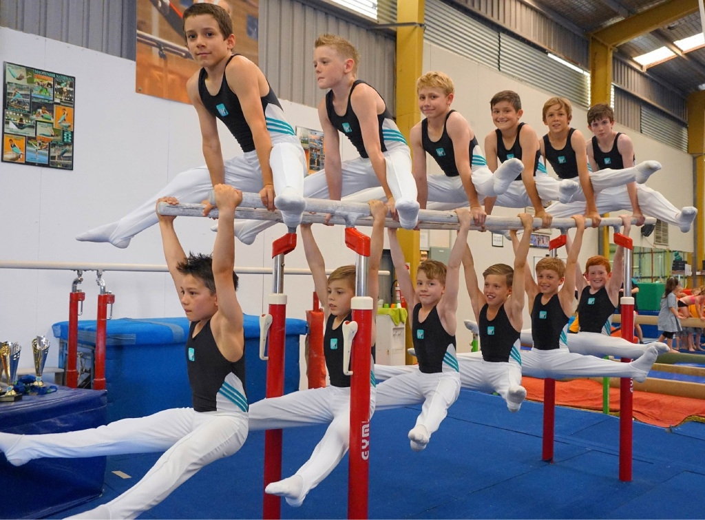 The boys' team from High Flyers Trampoline and Gymnastics Academy.