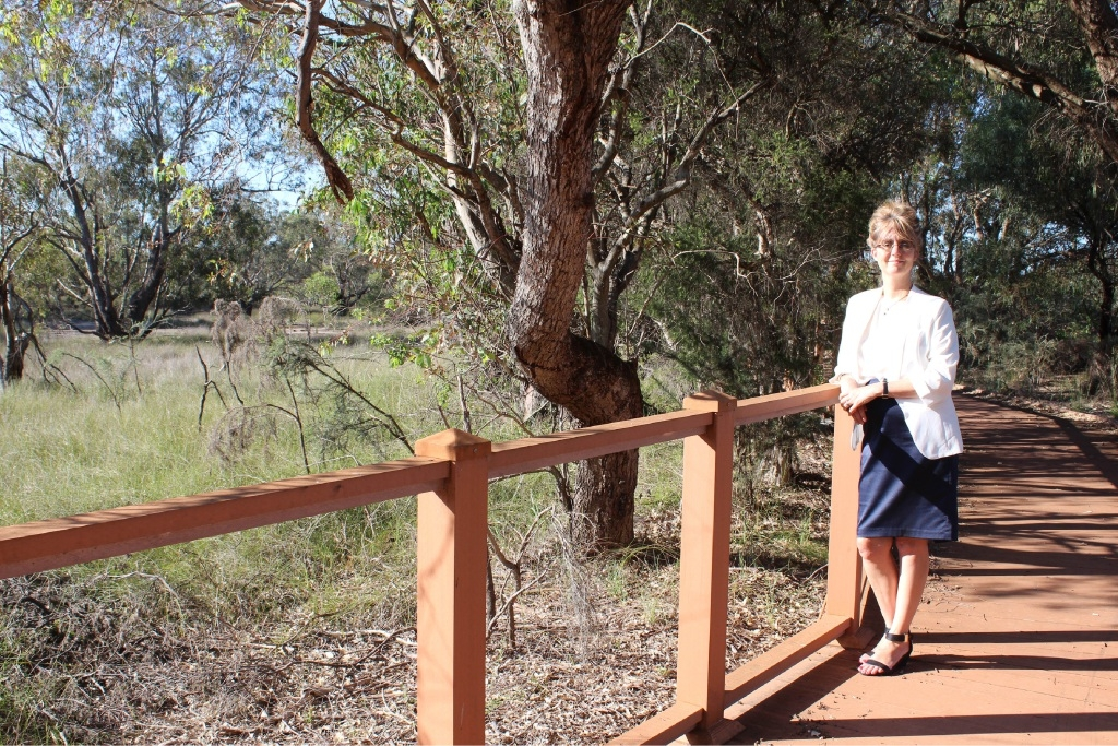 Bayswater councillor Michelle Sutherland at Lightning Swamp.