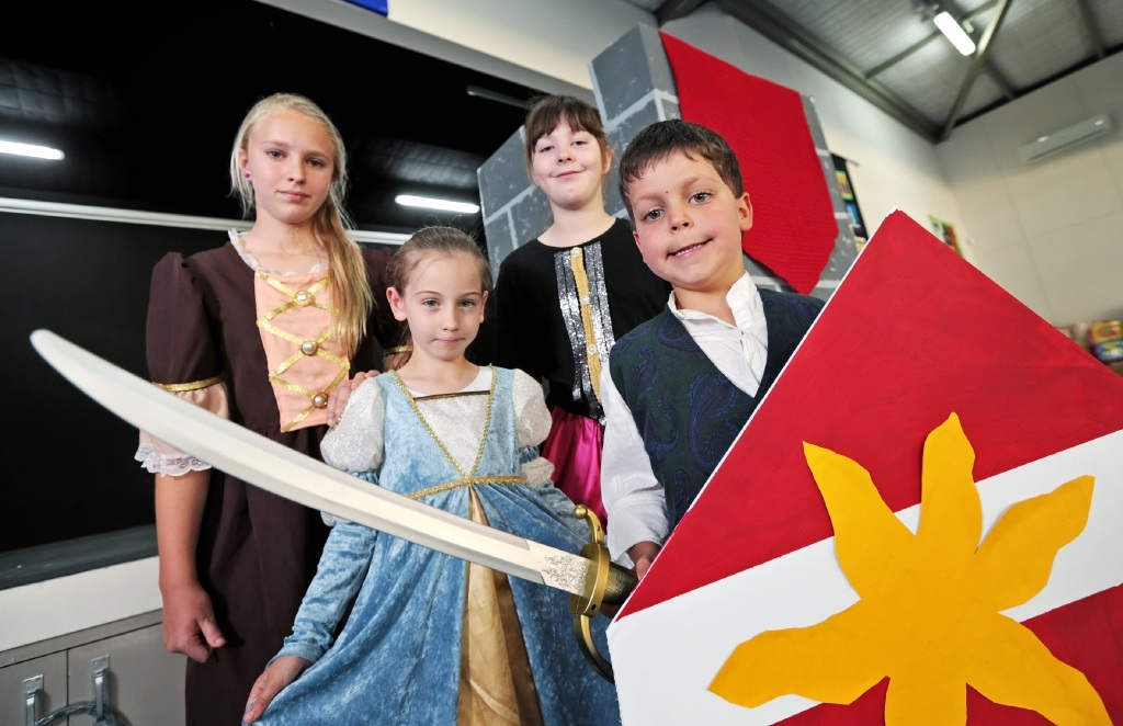 Fundraiser with medieval theme at Riverland Montessori School