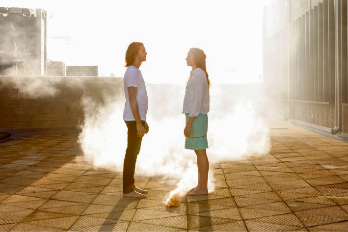Brett Smith and Chloe Flockart.