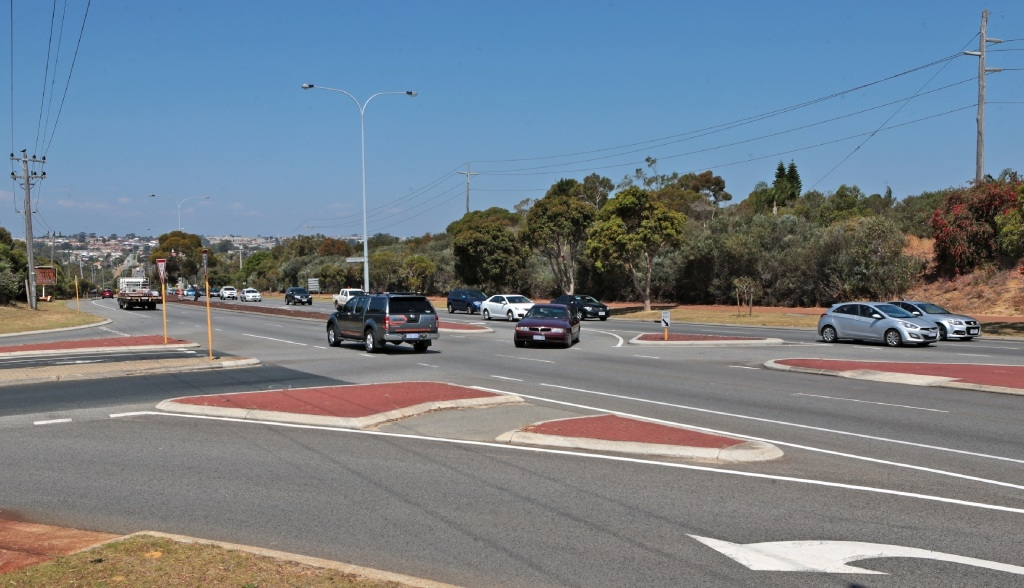 Black mark on road in Edgewater: WA's most dangerous junction