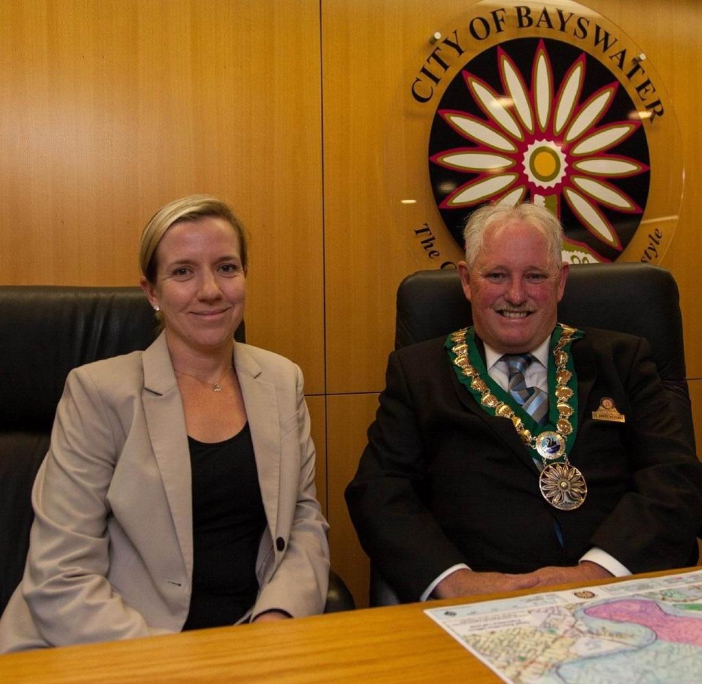 City of Bayswater Deputy Mayor Stephanie Coates and Mayor Barry McKenna.