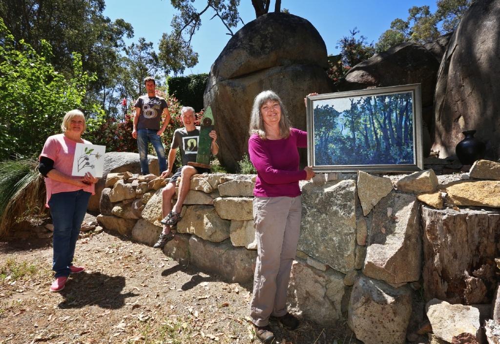 Local artists Jan Pittman, Neil Elliott, Alastair Taylor and Judy Kotai.Picture: Matt Jelonek www.communitypix.com.au   d445120