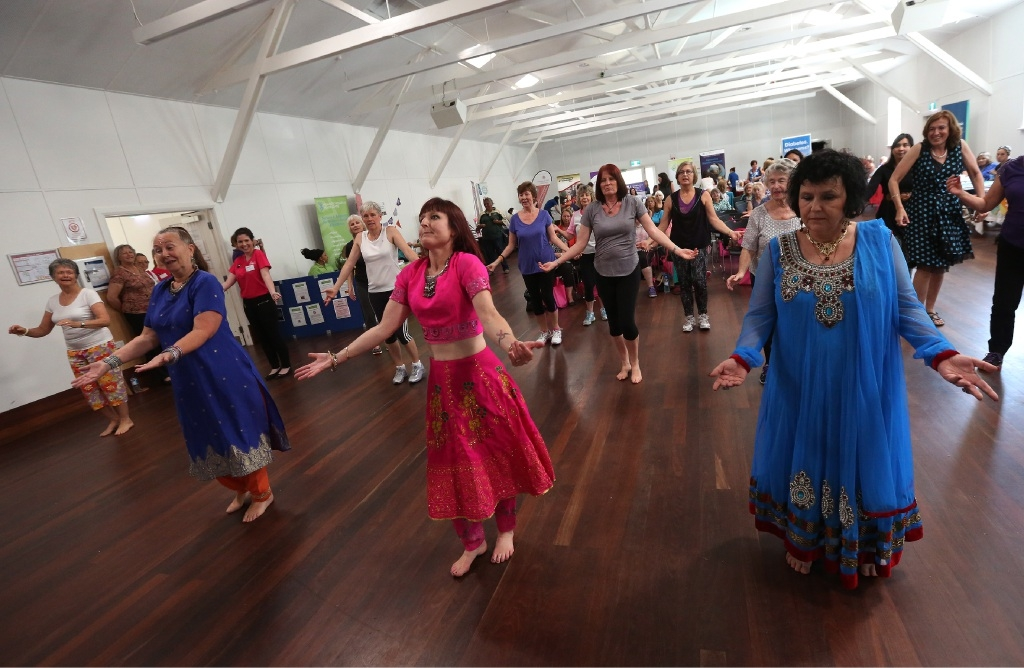 Belly dancing at the annual Women's Health and Wellbeing Day. Pictures: Matt Jelonek           d441448