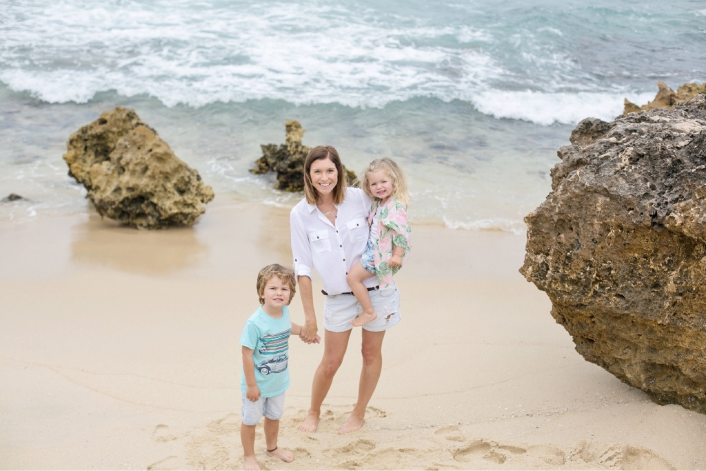 Emma Guthrie and her children Nash and Georgie 'love where they live'. Picture: Natalie Forrestal
