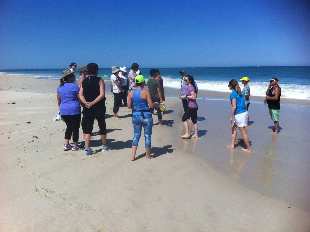 About 25 people attended the initial walk in Quinns Rocks.