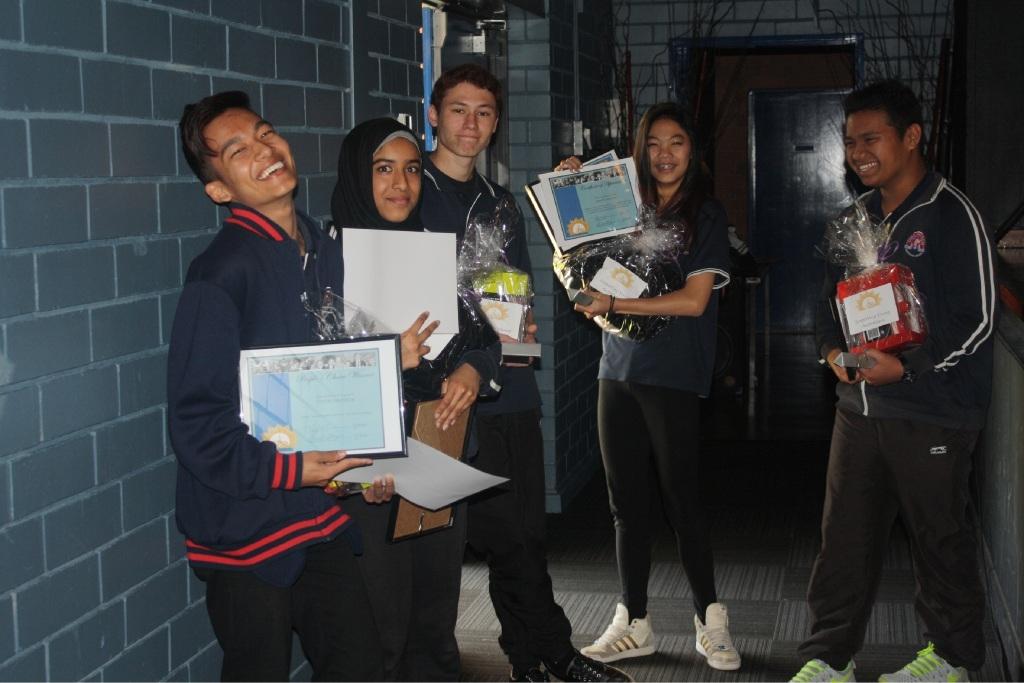 Girrawheen SHS Year 11s Peter KhaiThatmun, Zaynab Al Yassin, Baylee Hunter, Kristy Nguyen and Jet-rik Bernal.