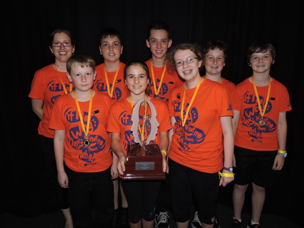 WA team from Helena College Junior School included Tom Ford, William Friedrichs, Olivia Hanly, Ryan Humphreys, Matthew Kelly, Stephanie Wallis, Kiah Watson and teacher Kate Barclay.