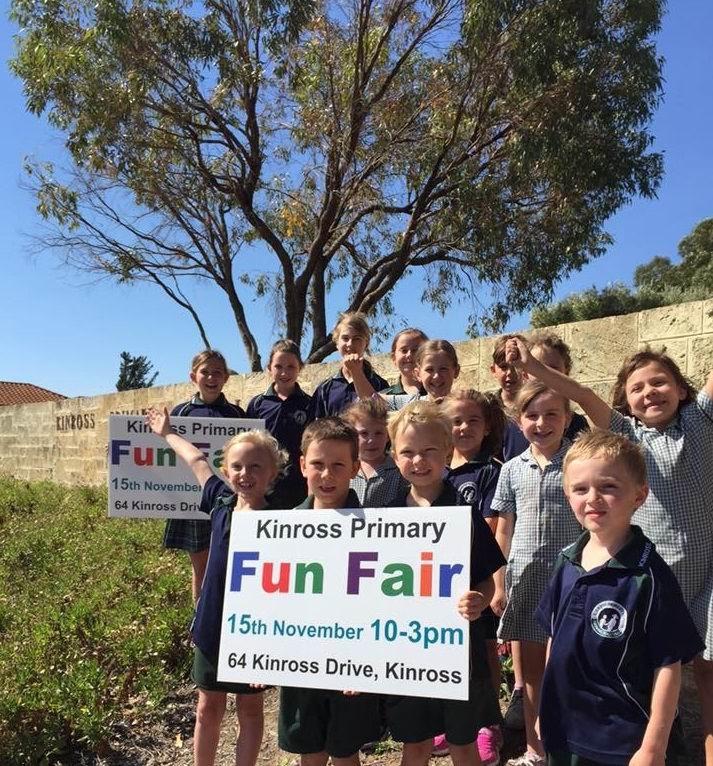 Students prepare for the fun fair.