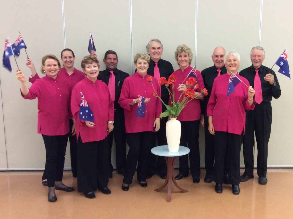Members of the Wanneroo Civic Choir preparing to commemorate 100 years since the Anzacs landed at Gallipoli.