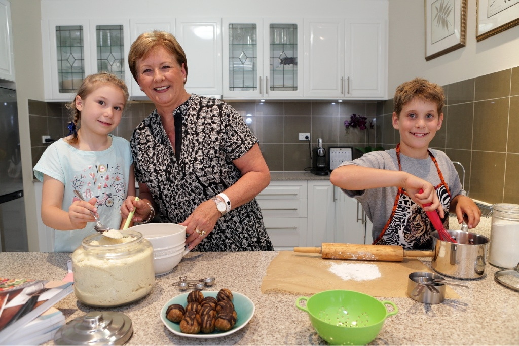 Susan Joy and her granddaughter Emily (7) will do battle with Joshua Wenz in the Bake-Off finals.Picture: Martin Kennealey        www.communitypix.com.au   d445484