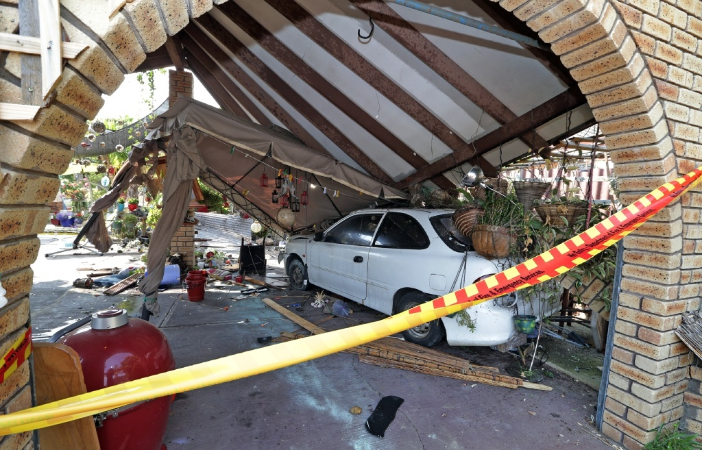 The car in the carport. Picture: Martin Kennealey        d445686