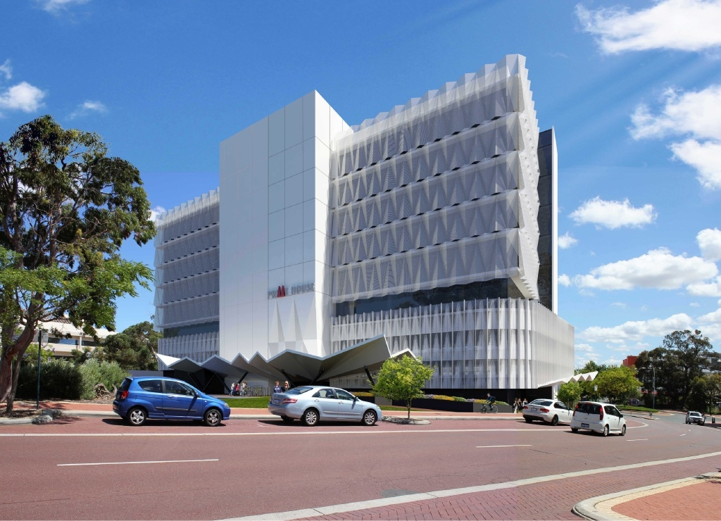 An artist's impression of the proposed development in the Joondalup CBD.