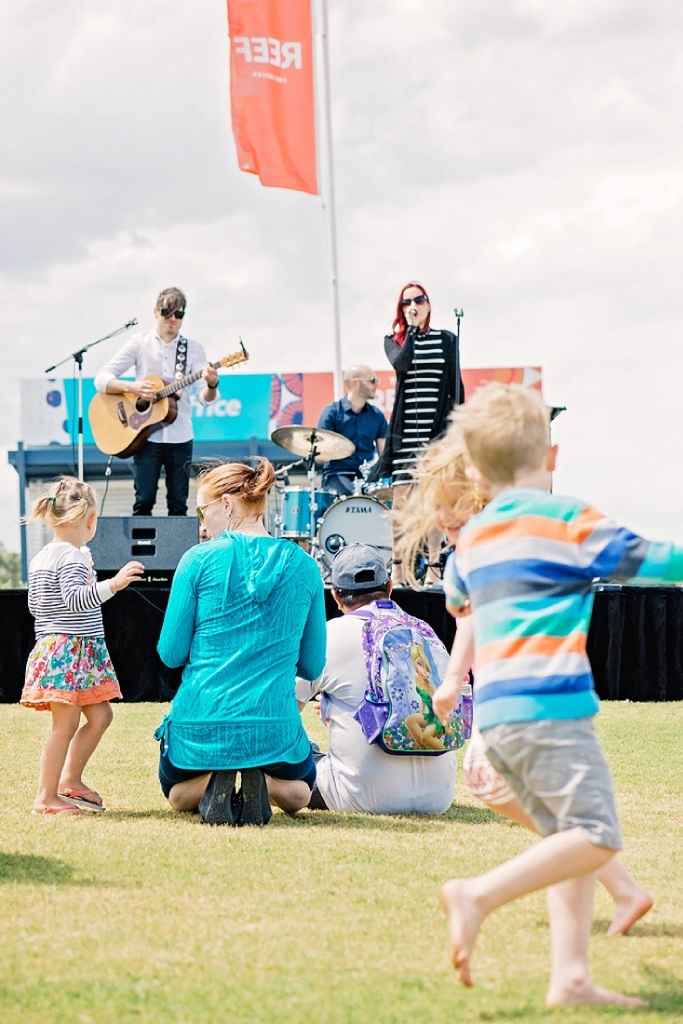 Perth band Little Belle performing at The Reef family fun day.