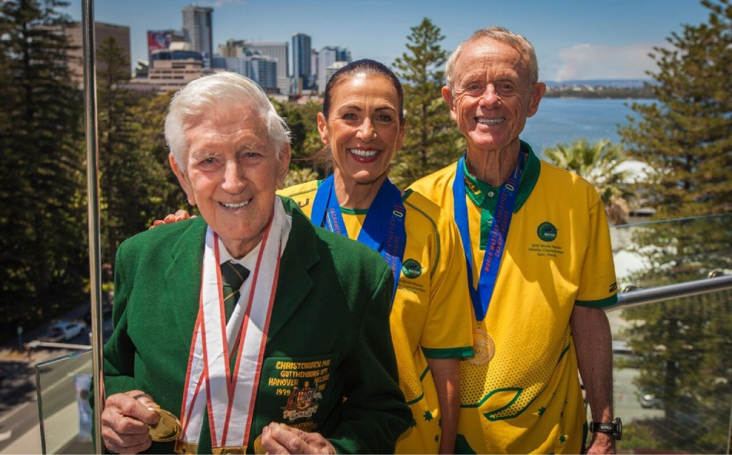 Marathon runner John Gilmour, walker Lyn Ventris and middle-distance runner David Carr.        Picture: Stewart Scott from Clip Media