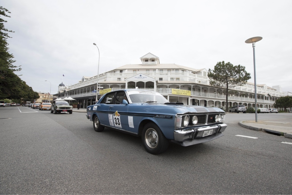 The inaugural Leukaemia Foundation Aussie Muscle Car Run left from the Esplanade in Fremantle.