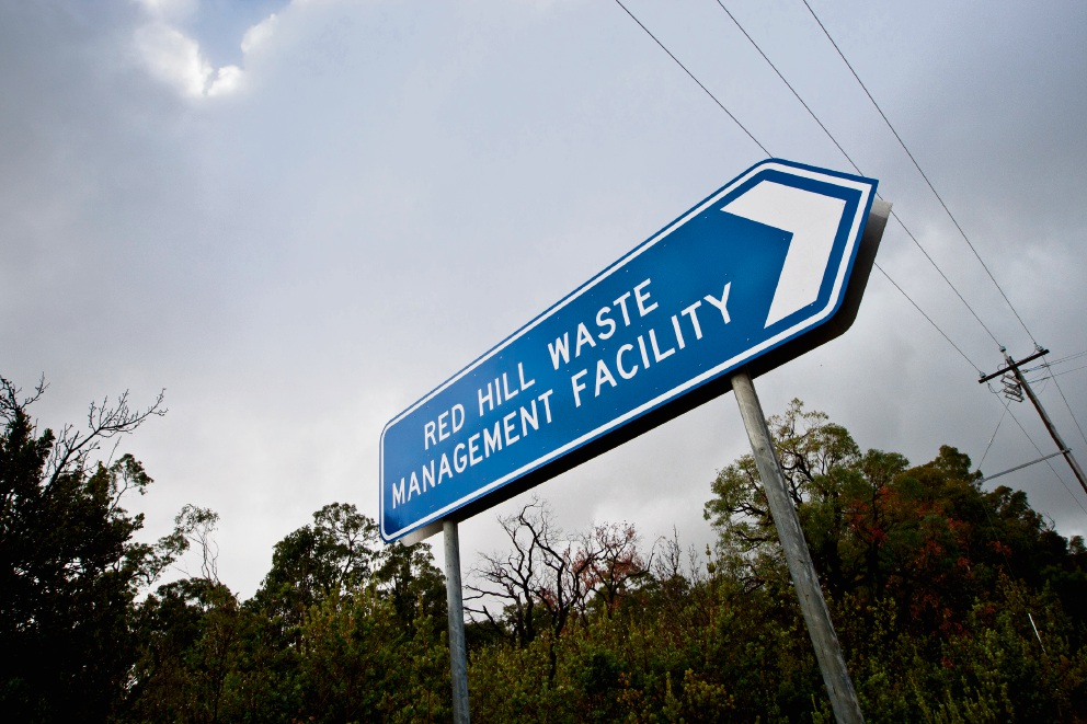 Red Hill Waste Management Facility is clearing bushland to create more landfill cells.