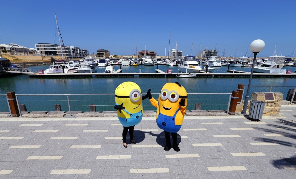 The Minions will join the celebrations at the Mindarie Festival on the weekend. Picture: Martin Kennealey        www.communitypix.com.au   d446095