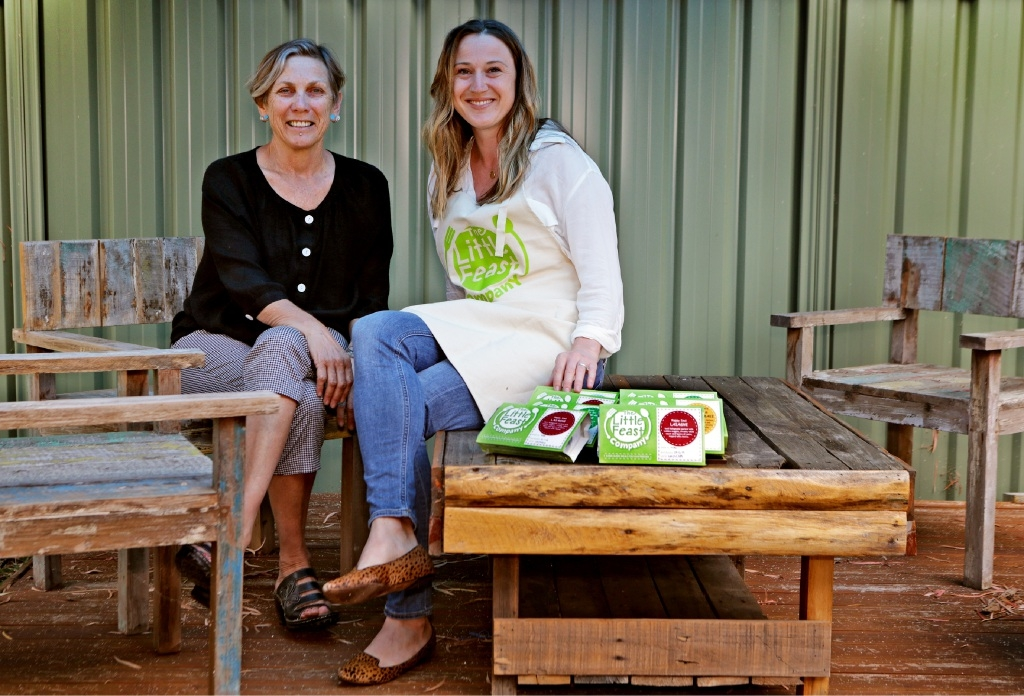 Patricia Giles Centre chief executive Kedy Kristal and The Little Feast Company's Amy Cladingboel are teaming up to give those escaping domestic violence a wholesome Christmas meal. Picture: Martin Kennealey d446047
