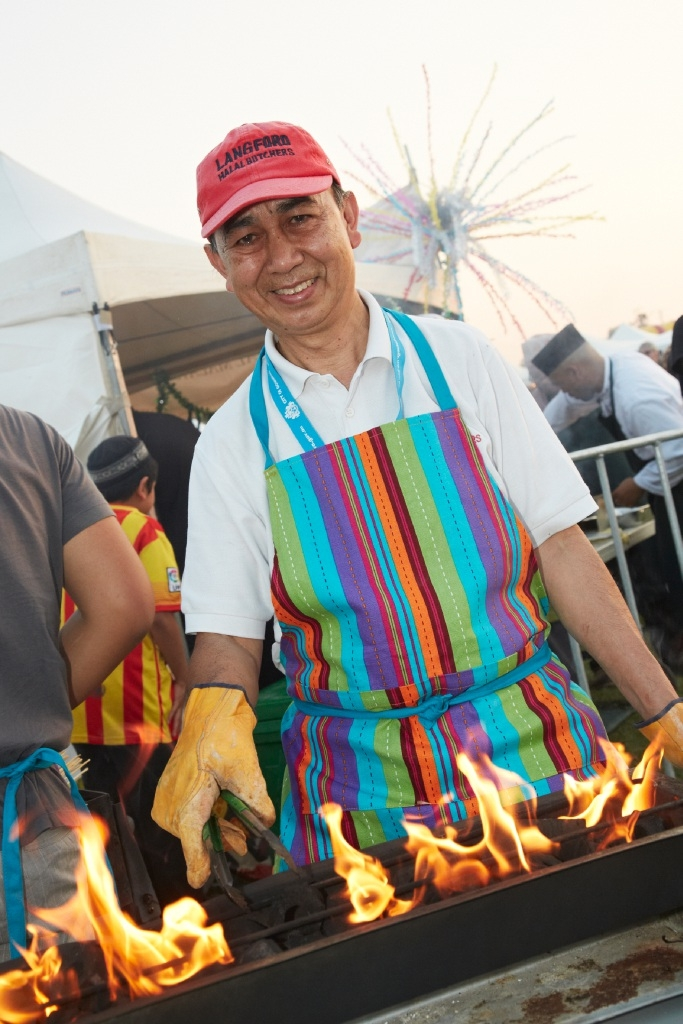 Leo Sjahrir will again be cooking up his famous satay sticks at the Multicultural Food Fair.