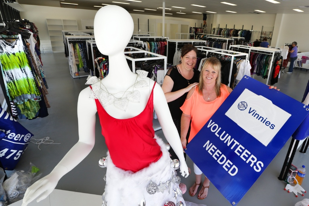 Fiona McGougan and Meryl Stephen from Vinnies Joondalup. Picture: Martin Kennealey  d446085