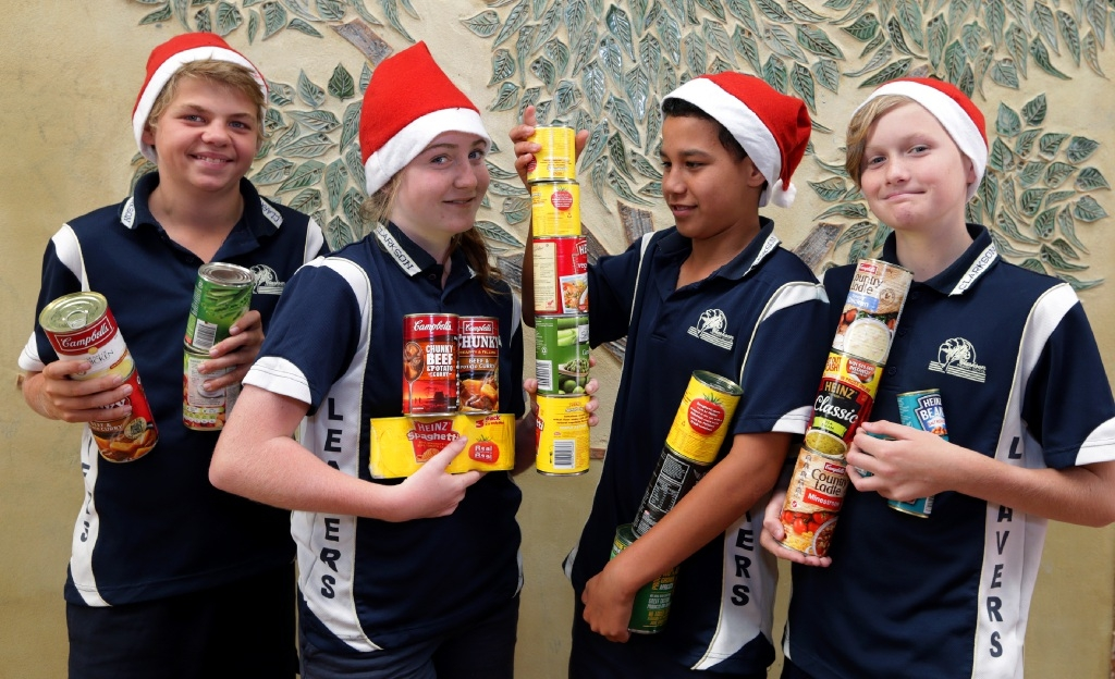 Year 6 students Blair Ferguson, Shenae Kidd, Mikaire Peina Edwards and Alex McLellan. Picture: Martin Kennealey              d446090