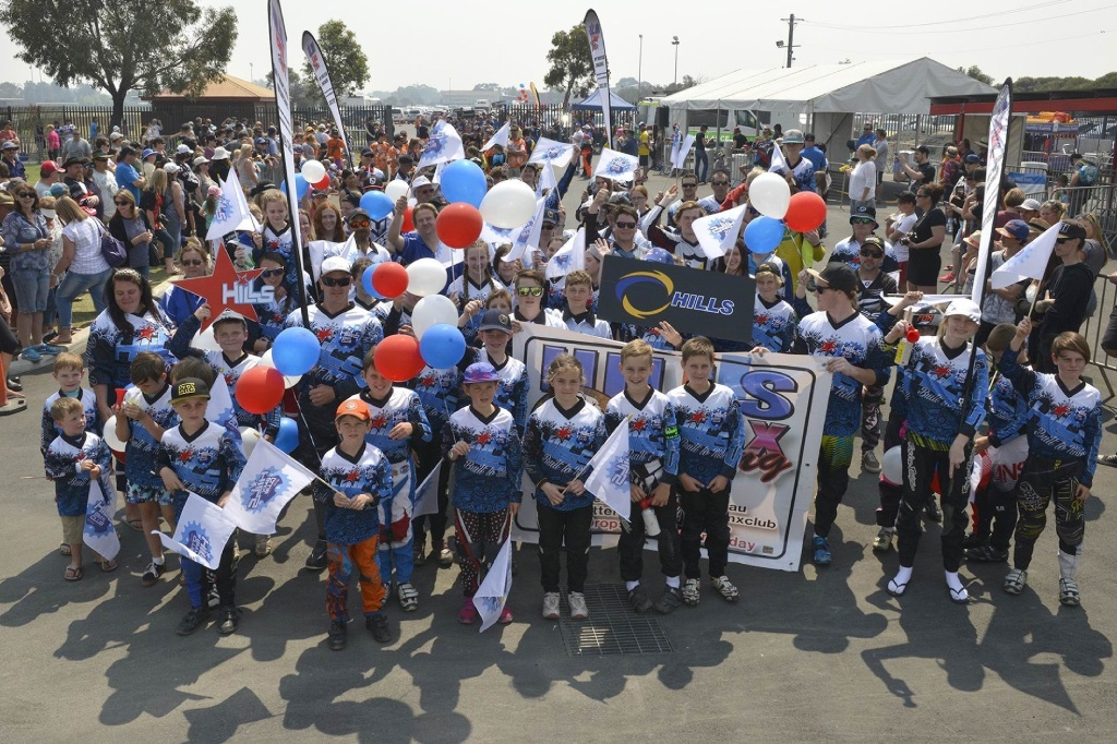 The Hills BMX Club during BMX WA State Championship Parade.