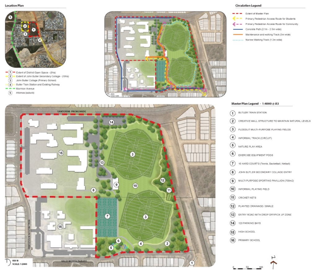Most submissions supported the proposed plans for Butler north district active open space
