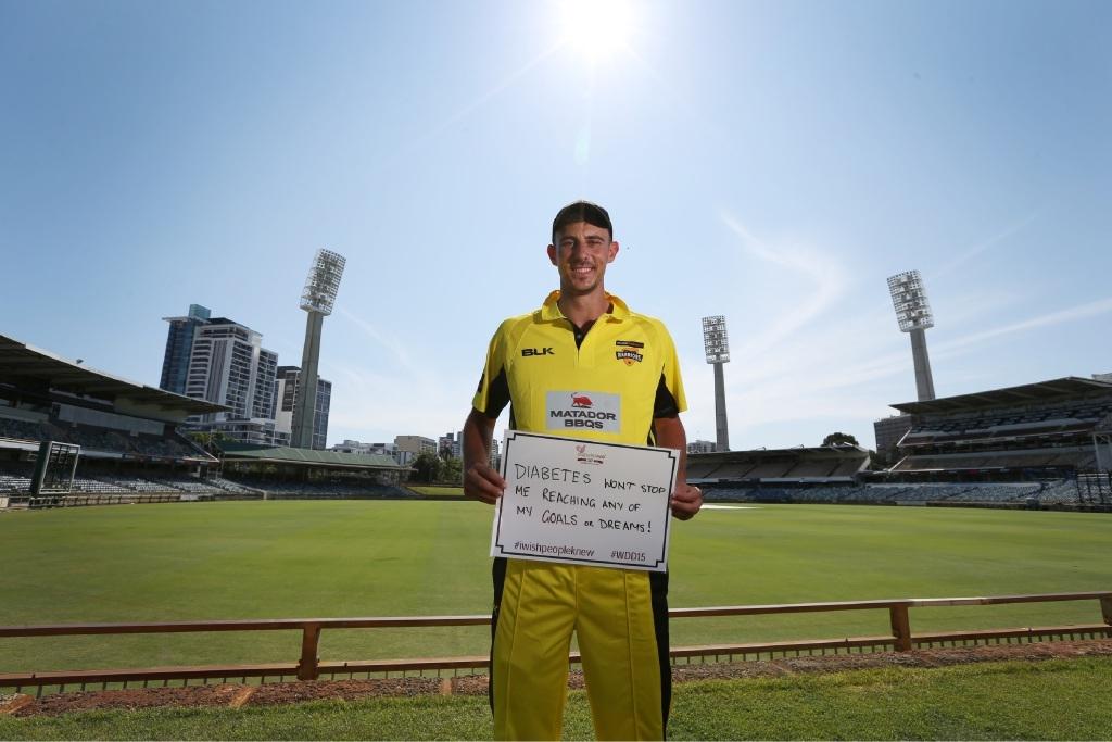 Matt Dixon is a Diabetes| WA ambassador. Picture: Andrew Ritchie   d445661