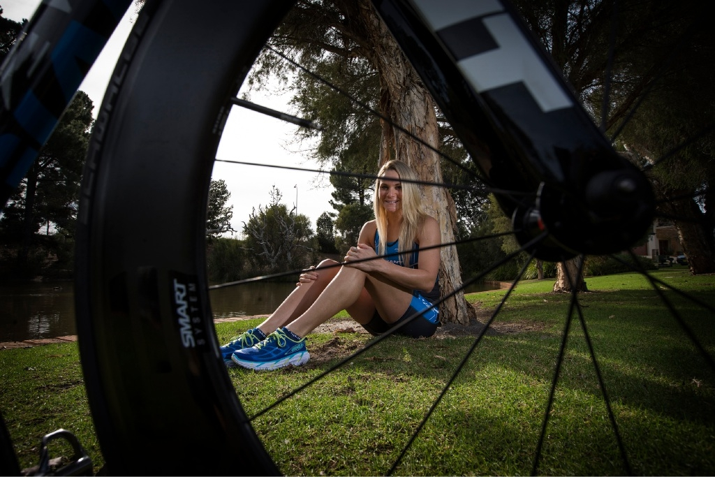Professional triathlete Renee Baker, who grew up in Armadale.Picture: Will Russell         www.communitypix.com.au   d441694