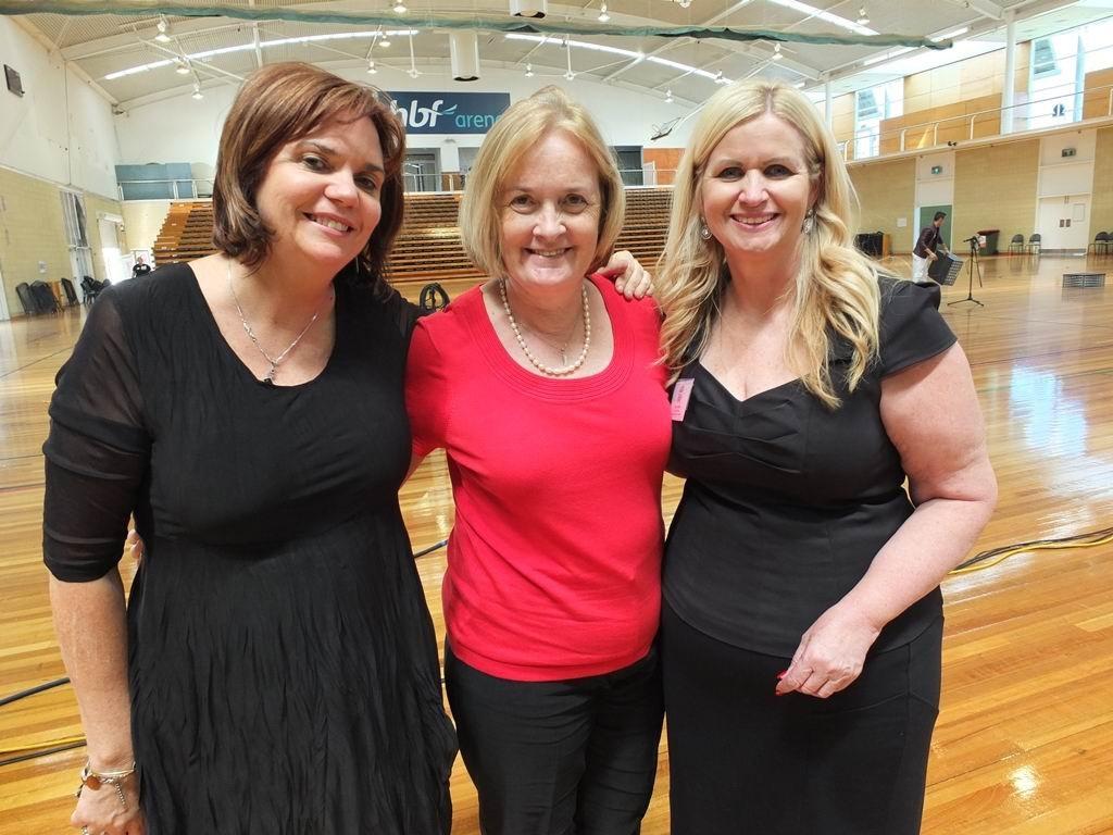 Songfest's Donna Marwick-O'Brien, Judy Vorster and Helen Fabri.