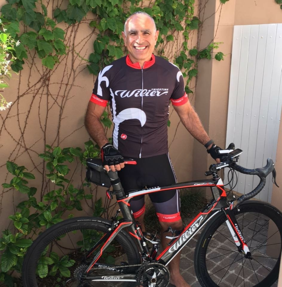Ayman Haydar will be riding to help charity.
