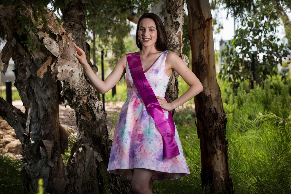 Miss Galaxy Australia hopeful Alannah Bayliss. Picture: Will Russell d446372
