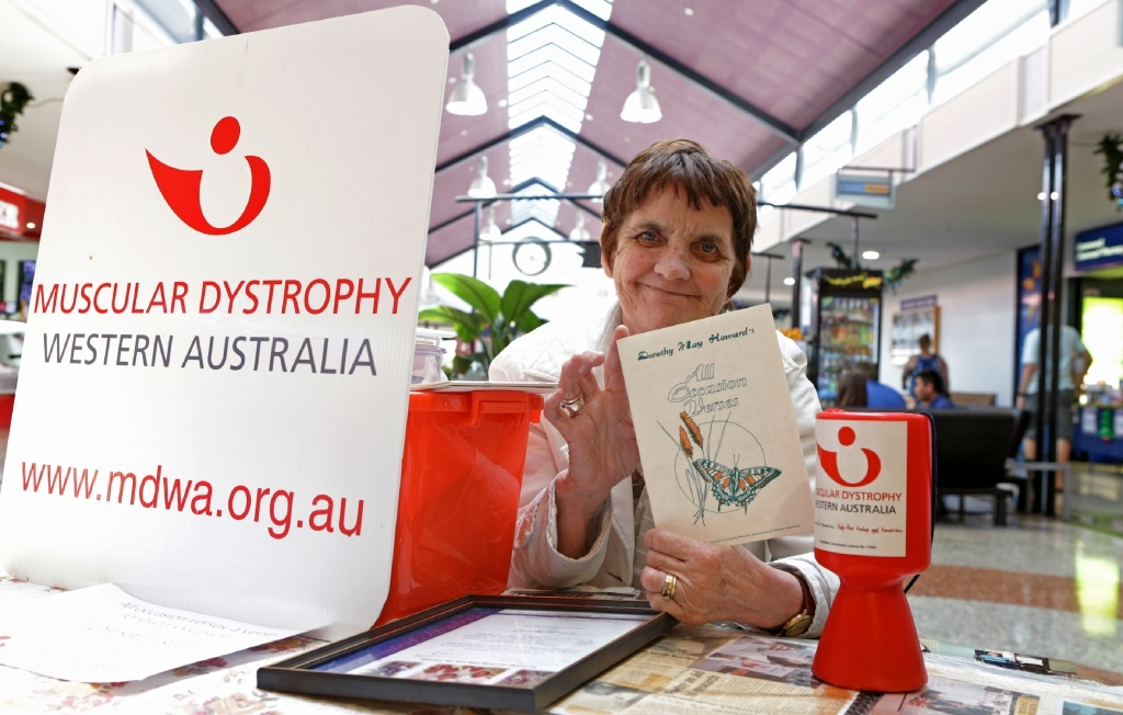 Dorothy Howard is selling books of her poetry to help Muscular Dystrophy WA. Picture: Martin Kennealey        www.communitypix.com.au d446412
