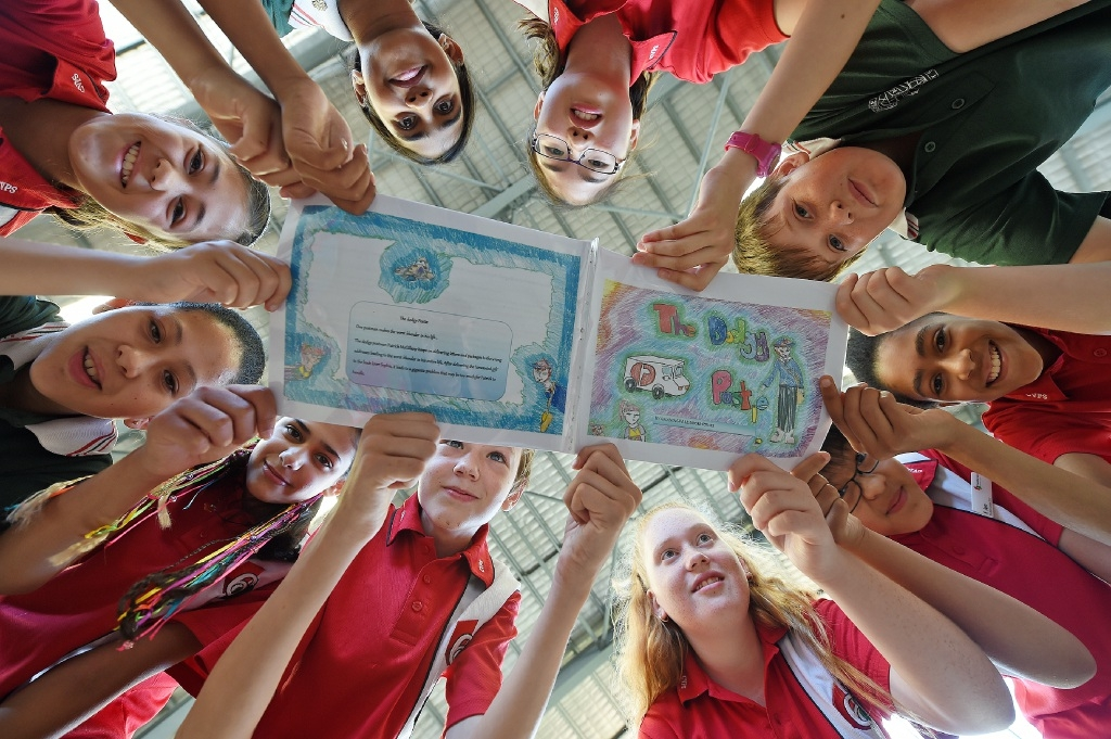 Year 5 and 6 students from Canning Vale Primary School, who were adjudged to have written the best book in the Write a Book in a Day competition. Picture: Jon Hewson.   d446282