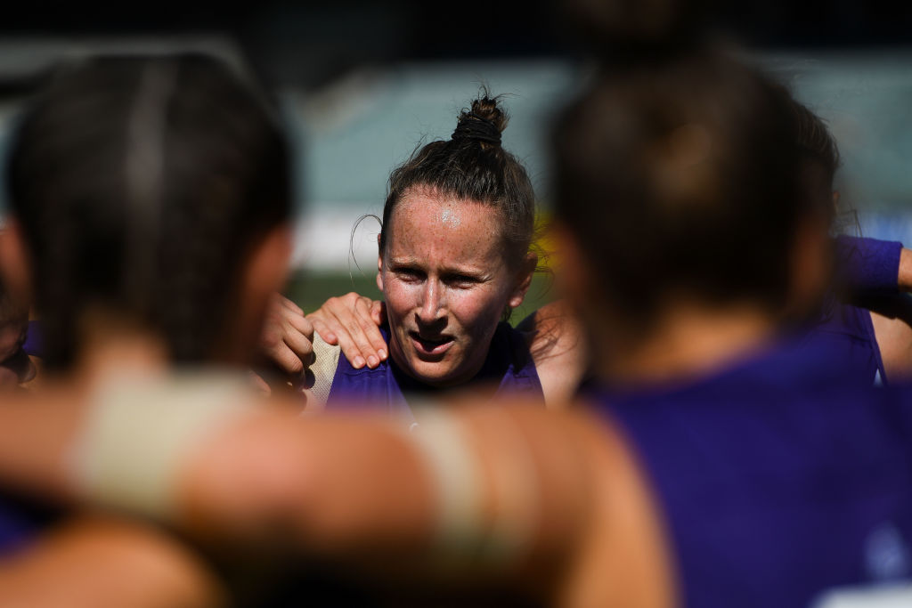 Kara Donnellan of the Dockers. Picture: Daniel Carson/AFL Media/Getty Images
