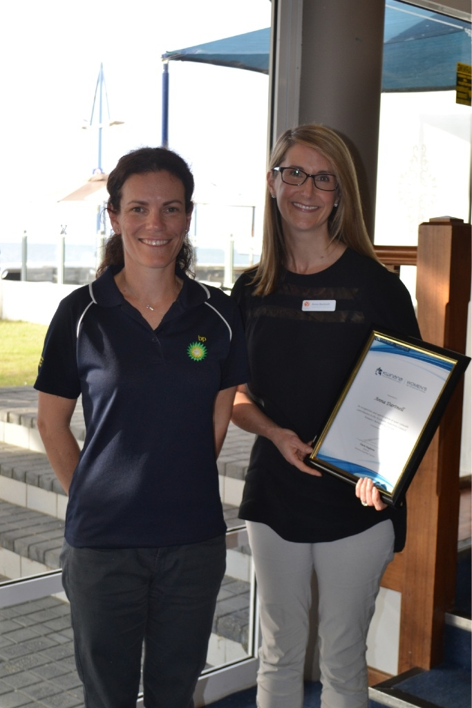 Forum host Rachel Lewis with guest speaker Anna Dartnell.