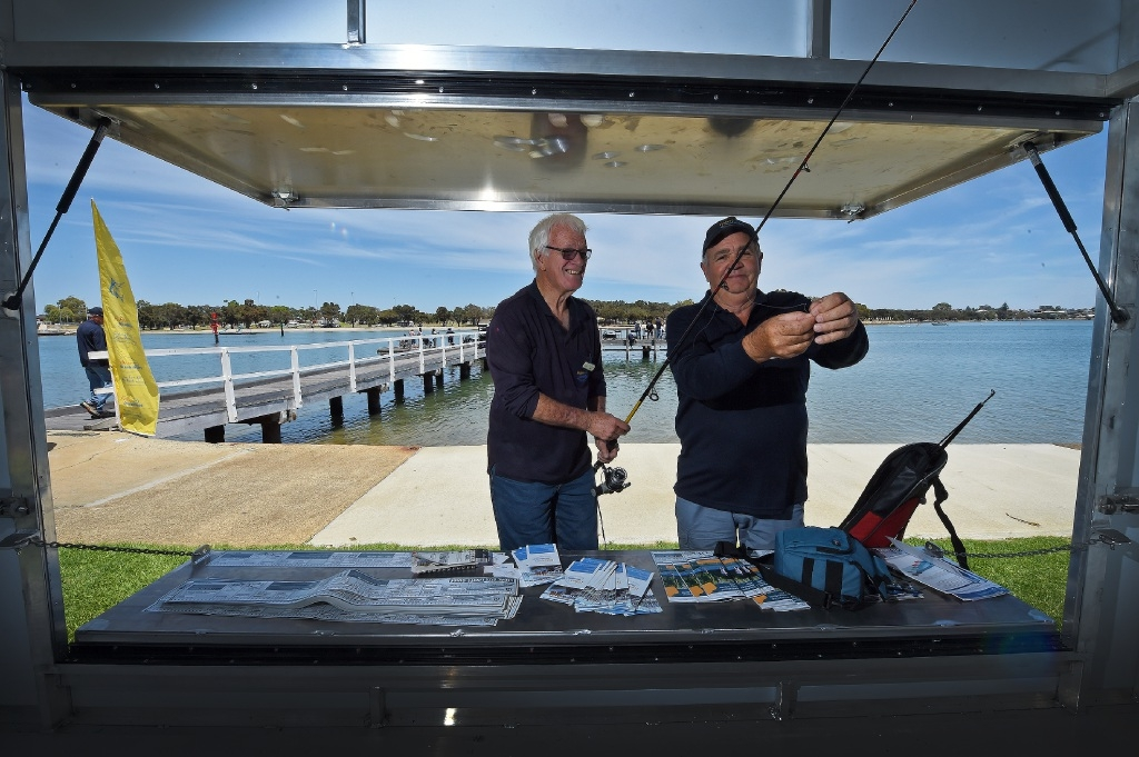 Ian Metcalf and Hedley Fowler from Fishabilities. Pic: Jon Hewson d446425.