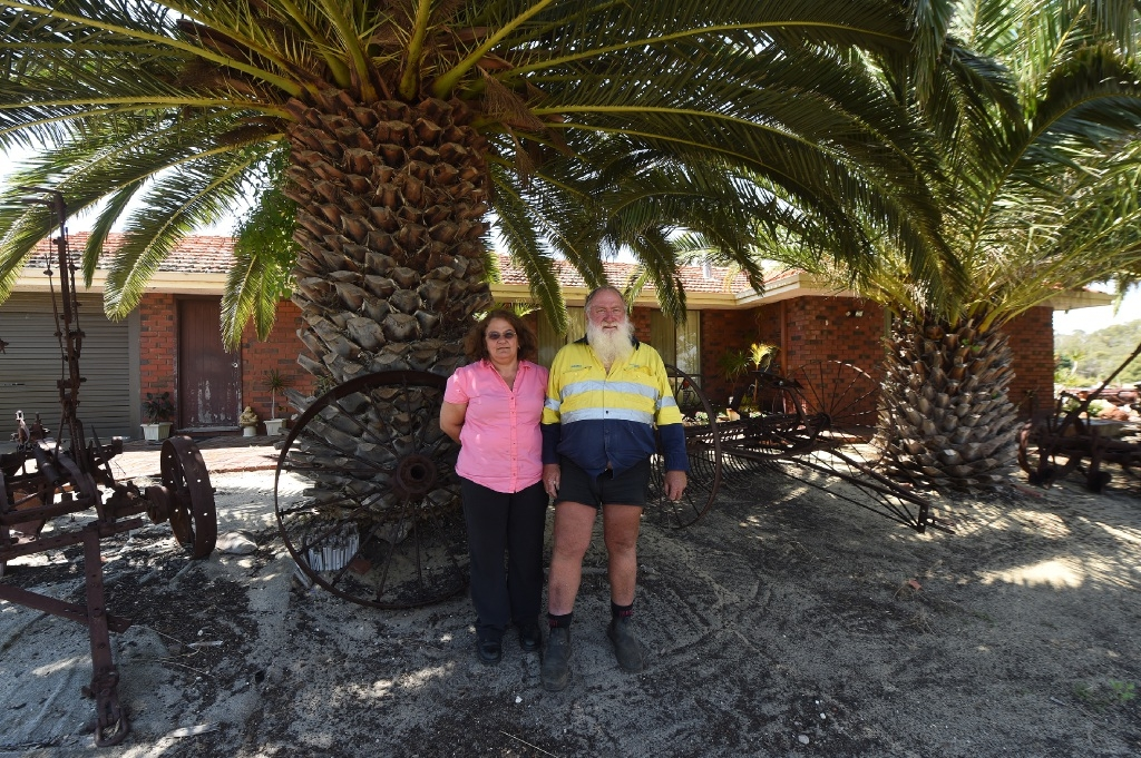 Russell and Carmela Lewis are concerned about the status of their property.  Picture: Jon Hewson        d446261
