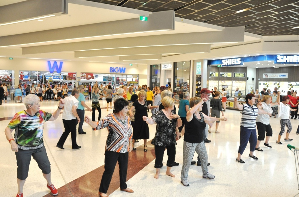 Cockburn seniors show off moves in flash mob