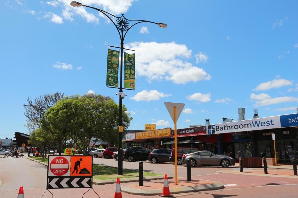 Installation of CCTV cameras on Progress Street in Maylands.