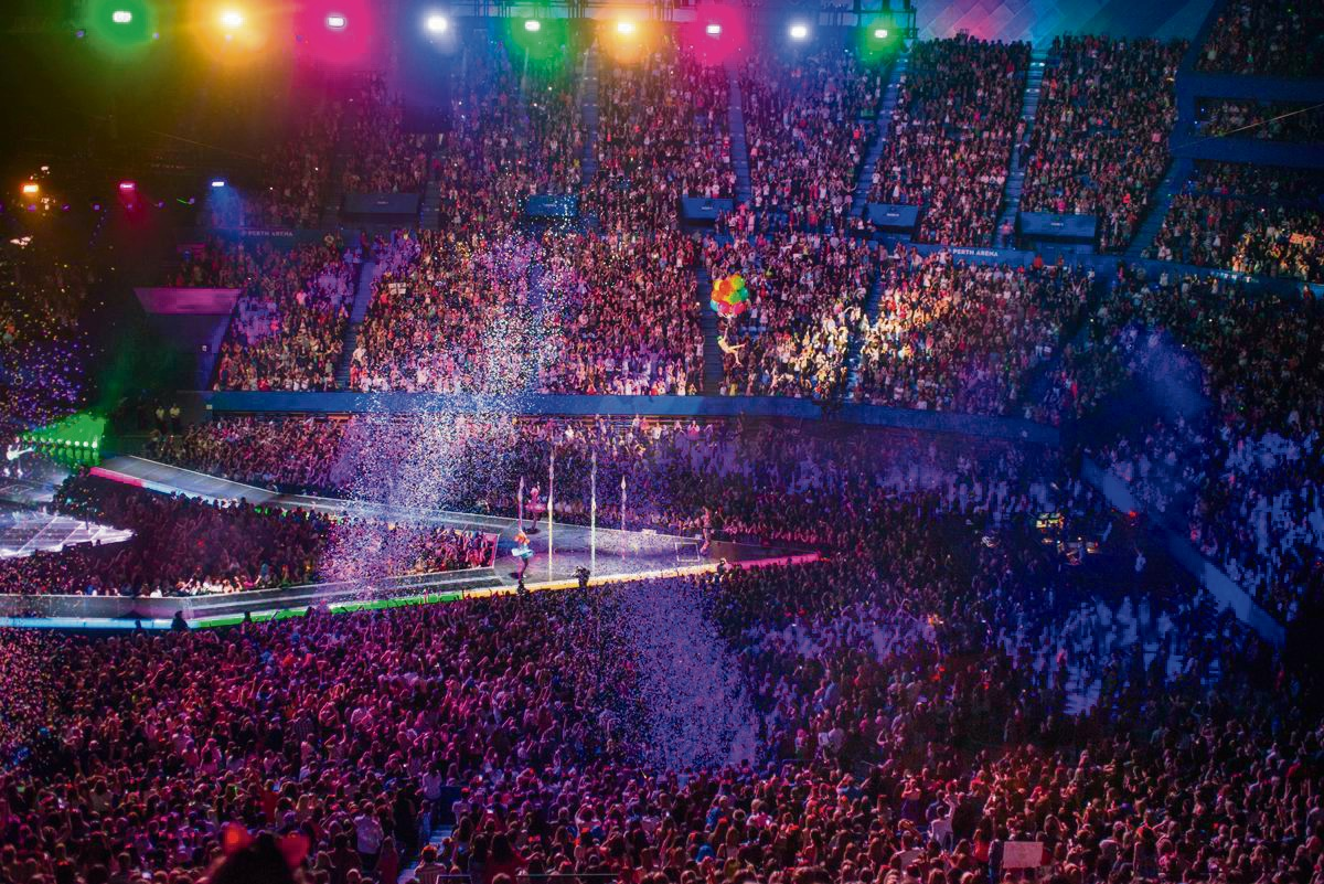 Katy Perry performing at Perth Arena. Picture: Duncan Barnes.