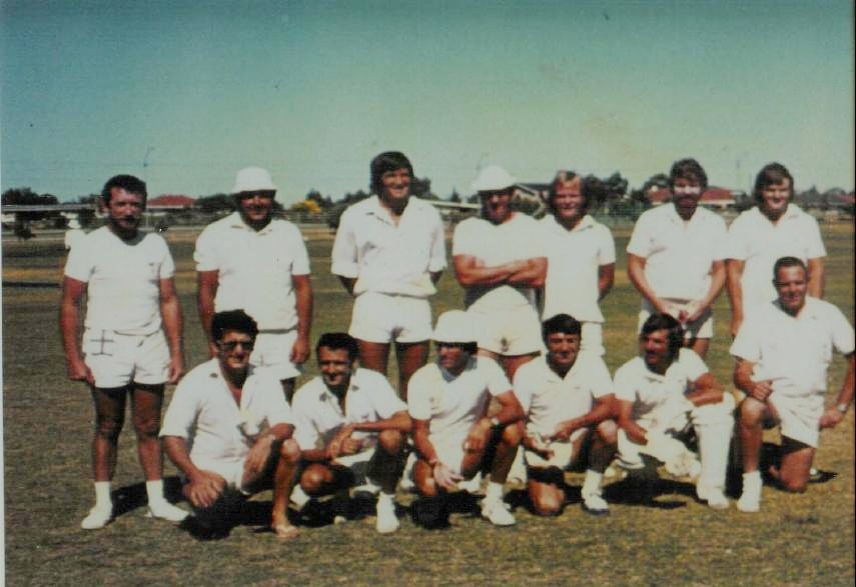 Phoenix Cricket Club's 1975/76 D Grade premiership team.