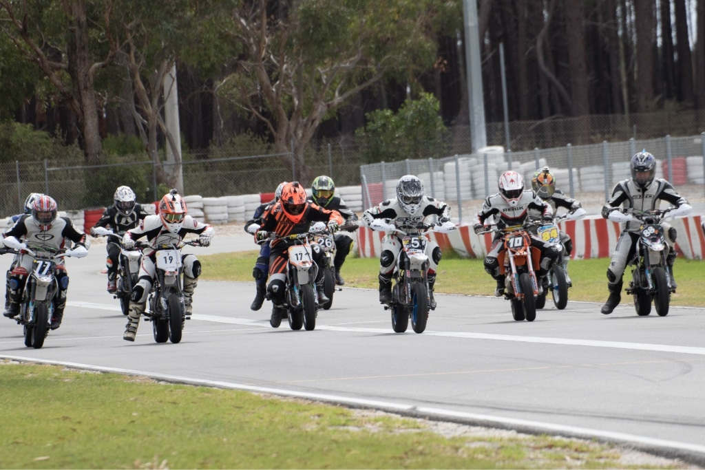 The State Supermoto Championship at Wanneroo International Kartwayon Saturday will feature the mini-motard class.
