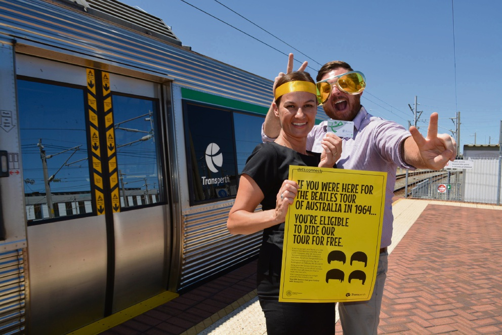Transperth education co-ordinator Louise Madden and education officer David McMahon.