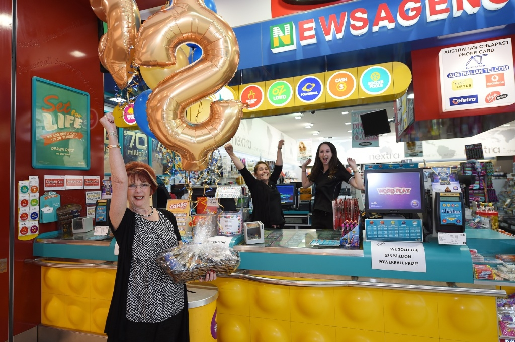 Lottery Centre owner Robyn McDermott with staff members Jess Johnstone and Judith Phillips.  Picture: Jon Hewson       d446623