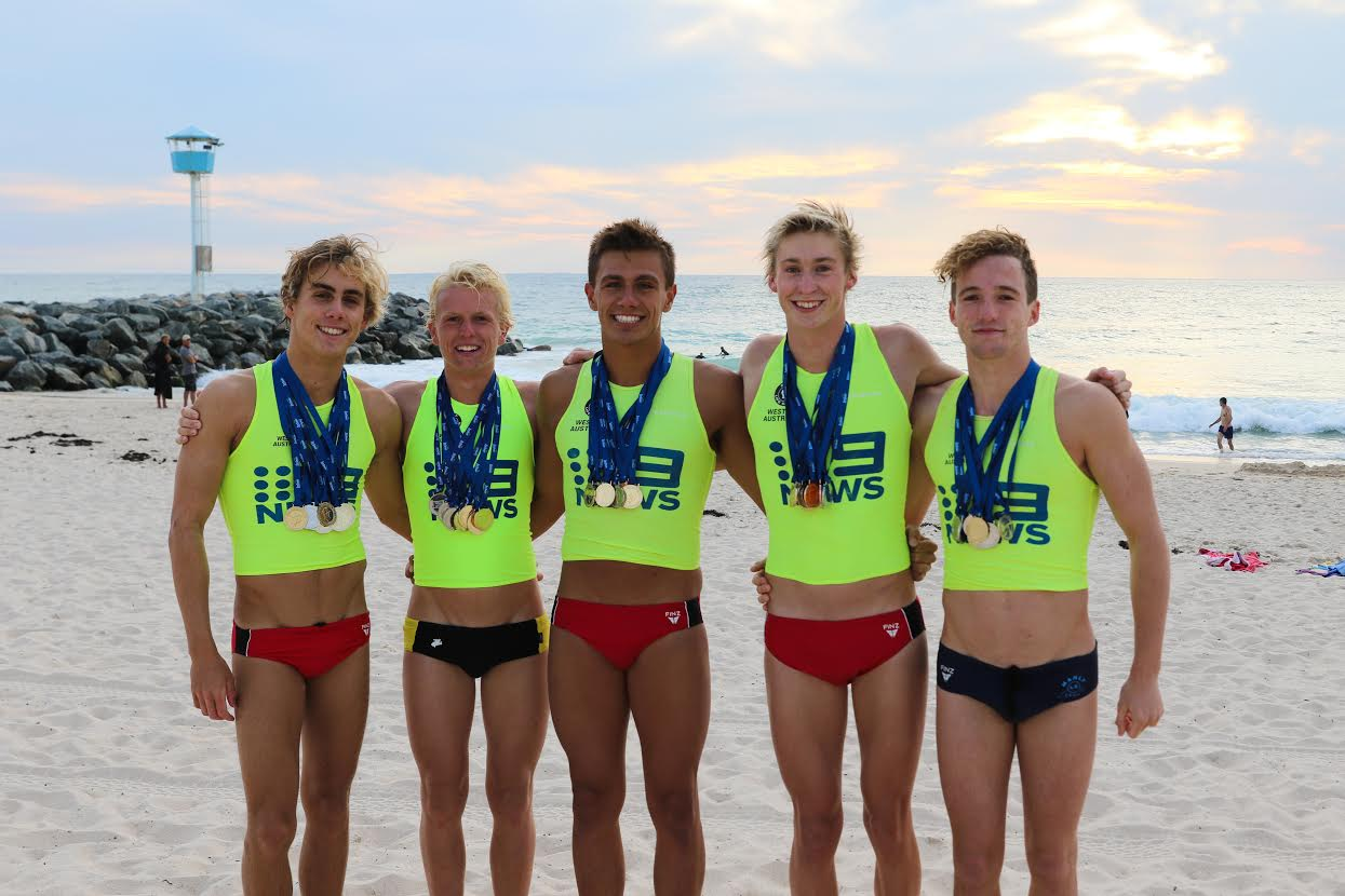 Riley Walker, Ethan Jackson, Jack Retty, Max Anderson Loake and Tom Gallagher are among City of Perth's strongest athletes competing at the Australian Surf Life Saving Championships.