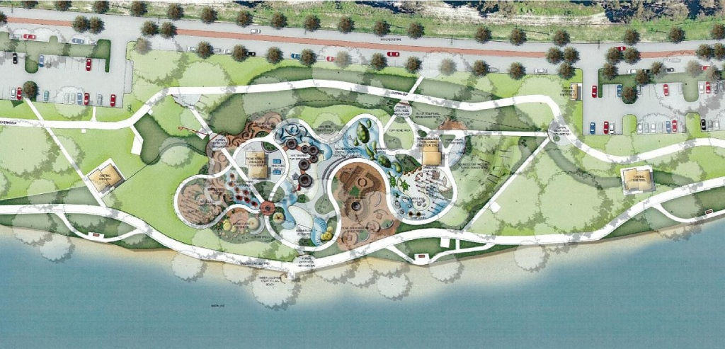 A concept map of the new Bibra Lake regional playground. Building will start in February for a September opening.
