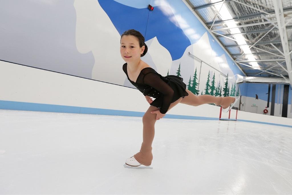 Ice-skating in Emily's genes